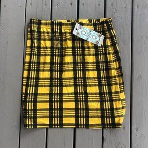 NWT Boohoo Bodycon Plaid Mini Skirt